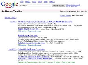 Скриншот Google News Archive Search